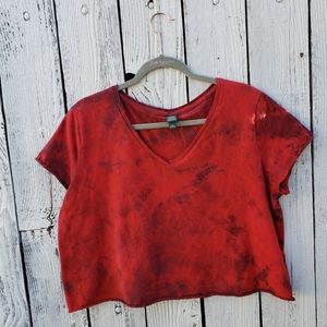 Wild Fable Upcycled Hand Dyed Crop Top Tee XL